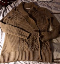 Brown rap around Cardigan Sweater