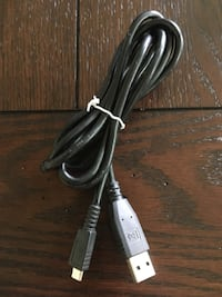 Used USB to usb micro c charging cable Plum, 15239