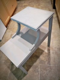 rectangular white and black wooden table Kelowna, V1X 3H2