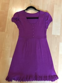From Italy Silk cotton blend sweater dress, scoop neck small - $65 Mississauga, L5L 5P5