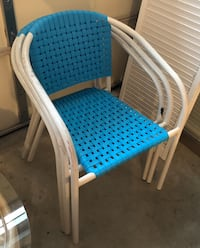 3 turquoise patio chairs Milford, 19963