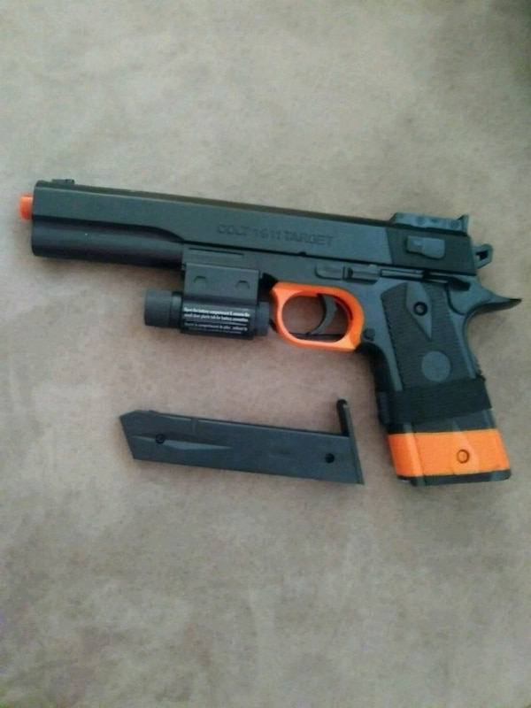 black and red airsoft pistol