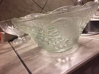 Glass serving dishes/Punch Bowl