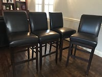 four black leather padded chairs Lucas, 75002