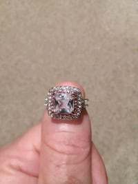 SILVER PLATED, CZ RING
