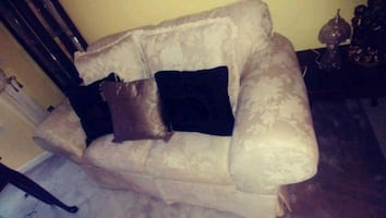 2 matching couches and pillows
