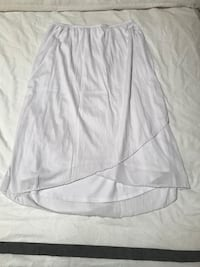 White Pull Up Skirt 13 km