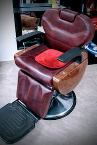 brown leather padded rolling armchair Brooklyn, 11207