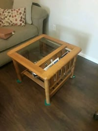 rectangular brown wooden framed glass-top coffee table Surprise, 85379