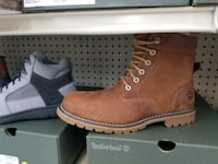 pair of brown Timberland work boots Lincolnia, 22312
