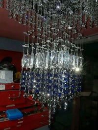clear glass and blue glass chandelier Oakland, 94606