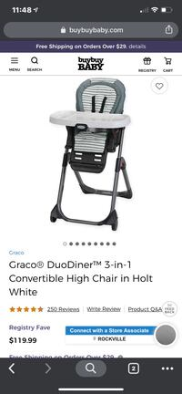 High chair for babies.