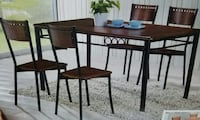 brown and black wooden dinette set Belleville, 07109