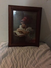 brown wooden framed painting of woman Fayetteville, 72703