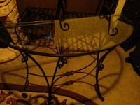 top glass side table