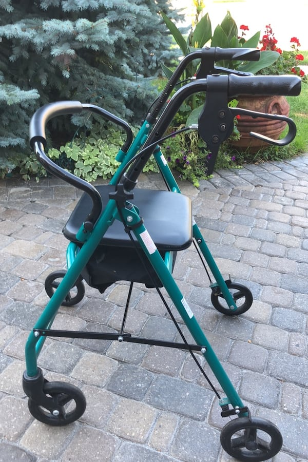 Medical Walker in excellent condition. Comfortable seat and excellent working brakes and overall condition.  c4f68f76-0e86-4cd1-9357-eece27a095d9