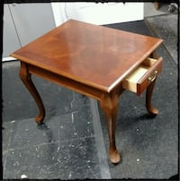 Cherry Stained End Table / Dark End Table