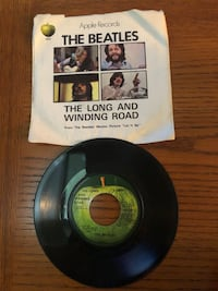 Beatles 45 RPM The Long and Winding Road record in mint condition sleeve a little beat up....all original  Manchester, 03104