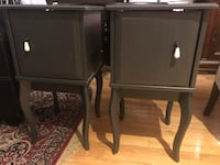 """2 x Night stand/bedside table/end table (16""""w x 16""""d x 29""""h) Toronto, M4E 3W7"""