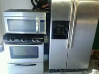 stainless steel and black microwave oven Lancaster, 93535