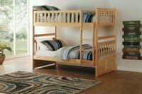 white wooden bunk bed frame Los Angeles, 90017