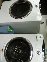 white front-load clothes washer and dryer set Austin, 78736