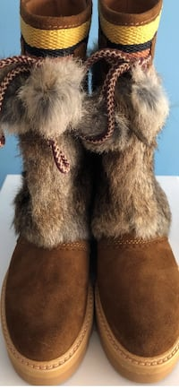 New CHLOE Rabbit Fur Boots WASHINGTON