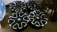 four black-and-gray 5-spoke vehicle wheels Abbotsford, V2S 3K4