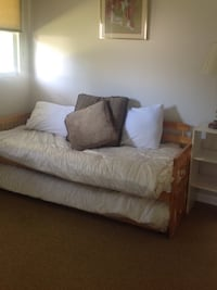 Twin mattress and box spring only. I have a bed frame if needed.  West Palm Beach, 33410