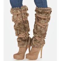 New taupe heeled boots. Size 8.5