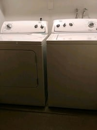 white washer and dryer set 2249 mi