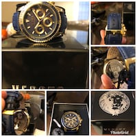 Brand New in Box Navy Blue and Gold Victoria Harbour Versace Versus  44 km