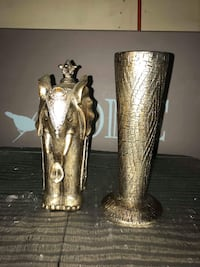 two brass-colored candle holders Barrie, L4N 5G8