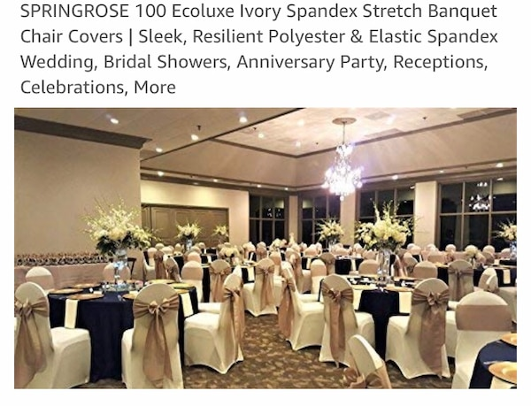 Wedding Reception Chair Covers Spandex