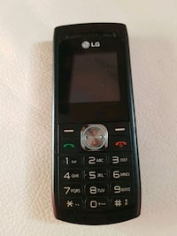 Simple LG phone with charger