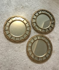 3 decorative metal framed mirrors never used  Ottawa