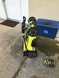Ryobi Mower, Hand trimmer, and Hedge Trimmer