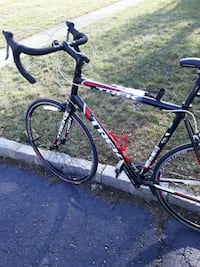 black and red hardtail bike 230 mi