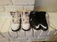two pairs of black and white Nike basketball shoes Bethany, 73008