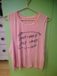 pink and black sleeveless top Pointe-Claire, H9R 3Y5