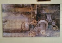 HUGE Kirklands Abstract Gears Wall Canvas! Flowery Branch, 30542