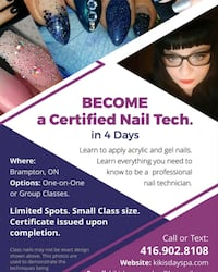 FALL SPECIAL NAIL AND LASH COURSE  Brampton