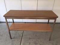 2 shelf table