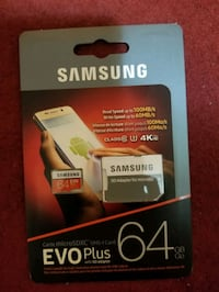 Samsung MicroSDXC EVO Plus Memory Card 64GB with Adapter Mississauga, L5B 2C9