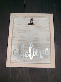 Believe - Wall Piece - Clip for Photo Boston, 02126