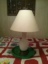 White ivory lamp made in the 60s Seagrove, 27341