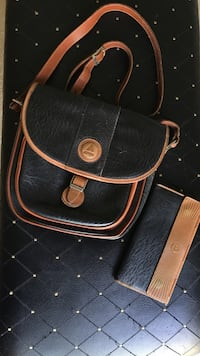 Black and brown leather crossbody bag Fayetteville, 72701