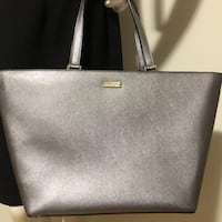 NEW! Authentic KATE SPADE Harmony Large leather tote in silver