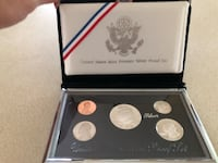 1992 United States Mint Premier Silver Proof Set in original case $36