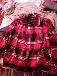 red and white plaid button-up jacket Porter Corners, 12859